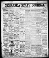 Sample Weekly Nebraska State Journal front page