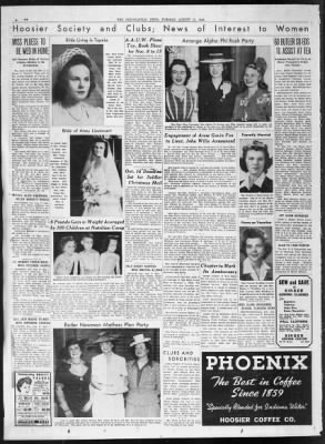 The Indianapolis News From Indianapolis Indiana On August 17 1943 18