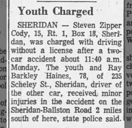 Steven Zipper Cody driving arrest