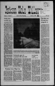 Sample Jackson Hole Villager front page