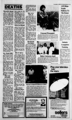 The Newton Record from Newton, Mississippi on November 24, 1982 · 15