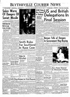 The Courier News from Blytheville, Arkansas on February 1, 1956 · Page 1