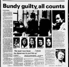 Ted Bundy found guilty of Florida State University murders