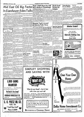 The Courier News from Blytheville, Arkansas on February 1, 1956 · Page 3