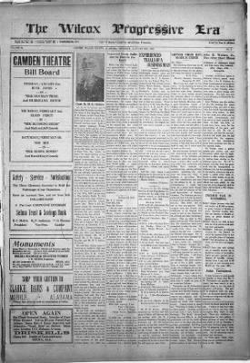 Wilcox Progressive Era from Camden, Alabama on January 26, 1922 · 1