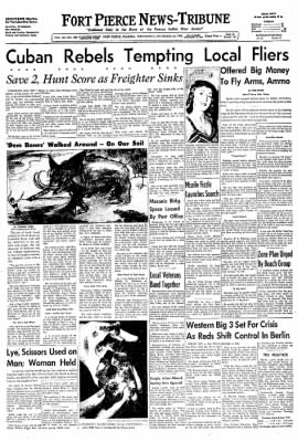 The News Tribune from Fort Pierce, Florida on November 19, 1958 · Page 1
