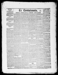 Sample Le Louisianais front page
