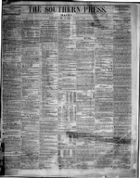 Sample Southern Press front page