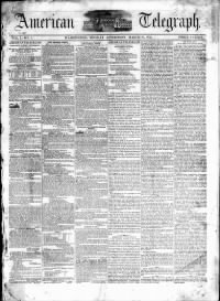 Sample Daily American Telegraph front page