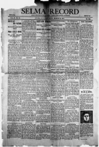 Sample Selma Record front page