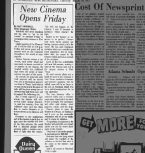 Marshall Cinemas opening