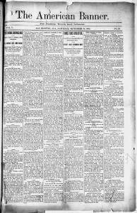 Sample The American Banner front page