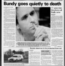 Ted Bundy executed by electric chair in Florida