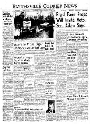 The Courier News from Blytheville, Arkansas on February 6, 1956 · Page 1