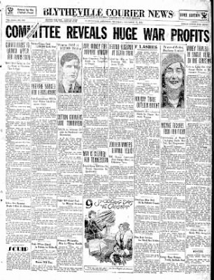 The Courier News from Blytheville, Arkansas on December 13, 1934 · Page 1