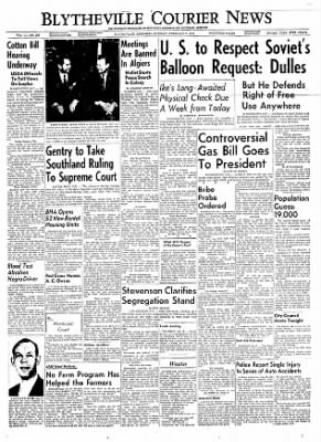 The Courier News from Blytheville, Arkansas on February 7, 1956 · Page 1