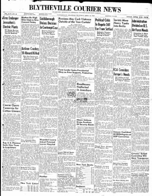 The Courier News from Blytheville, Arkansas on April 15, 1948 · Page 1