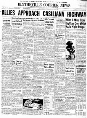 The Courier News from Blytheville, Arkansas on May 26, 1944 · Page 1