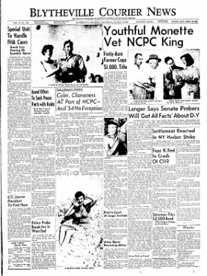 The Courier News from Blytheville, Arkansas on October 6, 1954 · Page 1