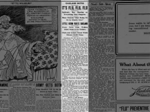 Article describes effects of Spanish flu epidemic in Kansas; Many are sick, meetings are cancelled