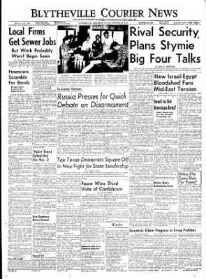 The Courier News from Blytheville, Arkansas on October 28, 1955 · Page 1