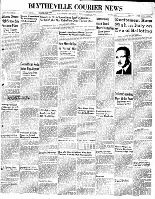 The Courier News from Blytheville, Arkansas on April 17, 1948 · Page 1
