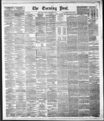 The Evening Post from New York, New York on September 30, 1851 · Page 1