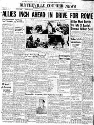 The Courier News from Blytheville, Arkansas on June 3, 1944 · Page 1