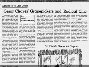 Editorial critical of Cesar Chavez, 1971