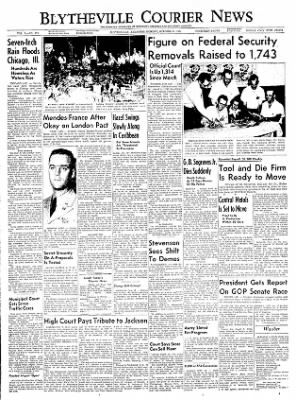 The Courier News from Blytheville, Arkansas on October 11, 1954 · Page 1