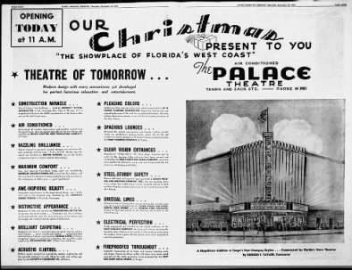 Palace theatre opening