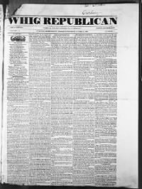 Sample Whig Republican front page