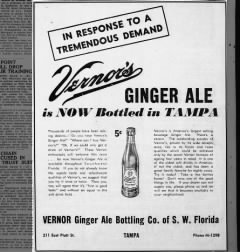 Newspaper ad March 3, 1946 Tampa Tribune
