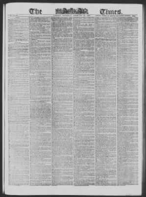 The Times from London, Greater London, England on February 26, 1863