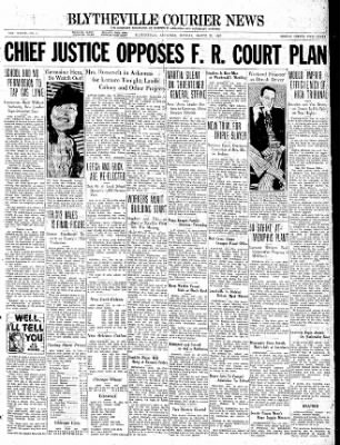 The Courier News from Blytheville, Arkansas on March 22, 1937 · Page 1