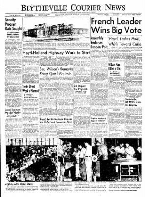 The Courier News from Blytheville, Arkansas on October 12, 1954 · Page 1