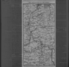 Map of the Somme Battlefield showing Allied advances the first day