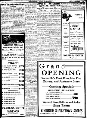Statesville Daily Record from Statesville, North Carolina on September 11, 1936 · Page 1