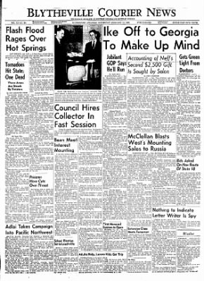 The Courier News from Blytheville, Arkansas on February 15, 1956 · Page 1