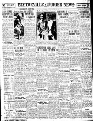 The Courier News from Blytheville, Arkansas on August 28, 1933 · Page 1