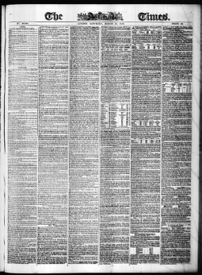 The Times from London,  on March 13, 1858 · Page 1