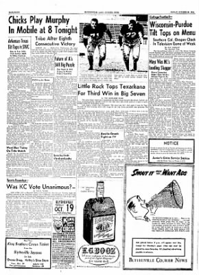 The Courier News from Blytheville, Arkansas on October 15, 1954 · Page 8
