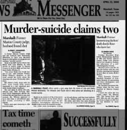 Lola Faye Bell shoot husband Robert Joseph Whelan Jr. and self Marshall, Texas 15 Apr 2004