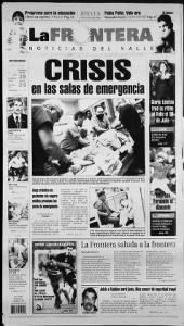 Sample La Frontera front page