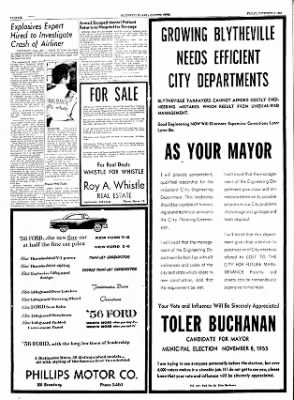 The Courier News from Blytheville, Arkansas on November 4, 1955 · Page 6