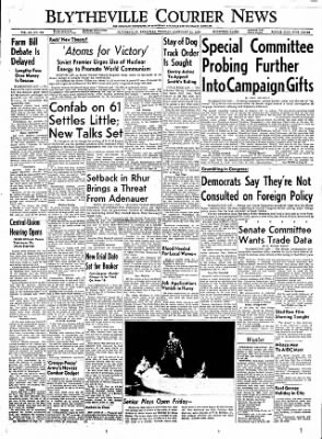 The Courier News from Blytheville, Arkansas on February 21, 1956 · Page 1