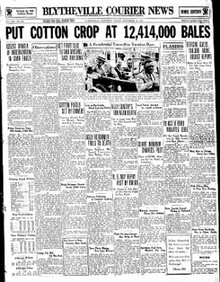 The Courier News from Blytheville, Arkansas on September 8, 1933 · Page 1