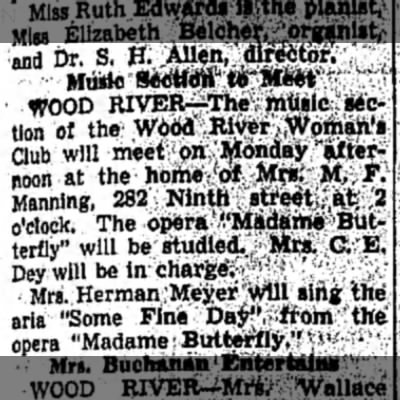 Mrs M F Manning - Muilc r .. WOOD RlVER-^The 1 , music section ot...