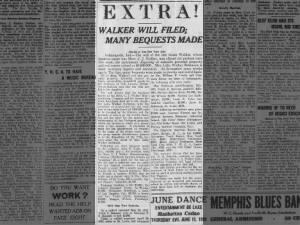 Newspaper article about the bequests in Madam C.J. Walker's will, 1919
