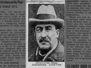Photo of Howard Carter, who discovered the tomb of Tutankhamun in Egypt